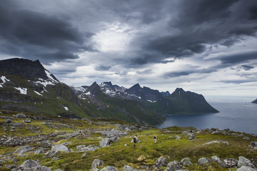 Participants performs during the Salomon Xreid at Senja, Norway on July 1, 2016