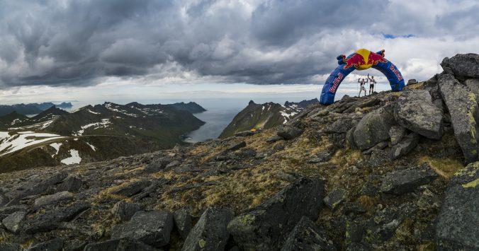 Participant runs Xreid 2016 in Senja, Norway on July 2nd, 2016.